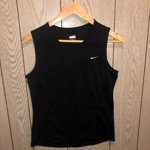 Nike dry fit black athletic tank top M